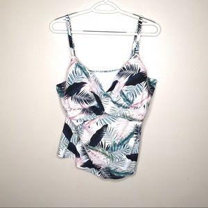 Island Escape Tropical Palm Bathing Suit Top